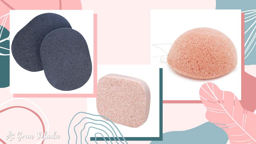 esponja para limpeza facial